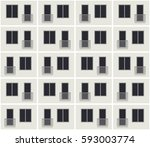 seamless pattern of the... | Shutterstock .eps vector #593003774