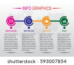 business infographics. timeline ...   Shutterstock .eps vector #593007854