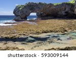 Talava Arch And Low Tide Reef...