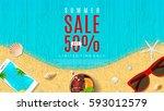 elegant web banner for summer... | Shutterstock .eps vector #593012579
