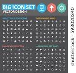big icon set clean vector | Shutterstock .eps vector #593020340