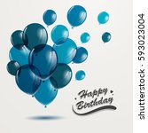 vector illustration of a happy... | Shutterstock .eps vector #593023004