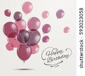 vector illustration of a happy... | Shutterstock .eps vector #593023058