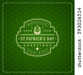 saint patricks day retro... | Shutterstock .eps vector #593026514