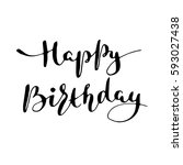 hand drawn vector lettering... | Shutterstock .eps vector #593027438