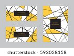 Modern abstract geometric background.  | Shutterstock vector #593028158