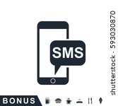 sms smartphone icon | Shutterstock .eps vector #593030870