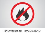 no fire sign icon | Shutterstock .eps vector #593032640