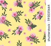 vintage seamless pattern with... | Shutterstock .eps vector #593035664