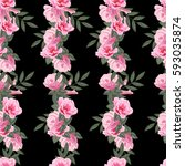 vintage seamless pattern with...   Shutterstock .eps vector #593035874