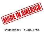 made in america red stamp text... | Shutterstock .eps vector #593036756