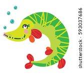 a vector illustration of cute...   Shutterstock .eps vector #593037686