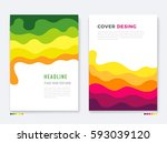 cover template. colorful... | Shutterstock .eps vector #593039120