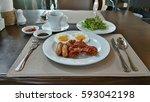 american breakfast | Shutterstock . vector #593042198