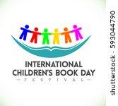 international children's day... | Shutterstock .eps vector #593044790