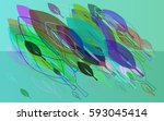 foliage texture template | Shutterstock .eps vector #593045414
