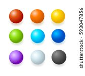 realistic color glossy spheres... | Shutterstock . vector #593047856