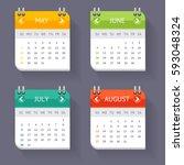 calendar quarter month current... | Shutterstock . vector #593048324