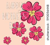 greeting card with mother's day.... | Shutterstock .eps vector #593056448