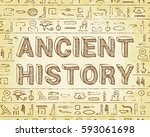 ancient history text and...   Shutterstock .eps vector #593061698