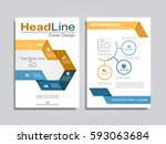brochure design layout with... | Shutterstock .eps vector #593063684