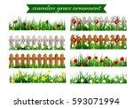 Big Green Grass Seamless Set