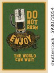 do not rush  enjoy  the world... | Shutterstock .eps vector #593072054