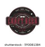 craft beer label template in... | Shutterstock .eps vector #593081384
