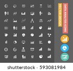 data analysis icon set clean... | Shutterstock .eps vector #593081984