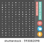 website icon set clean vector | Shutterstock .eps vector #593082098