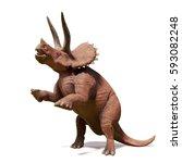 triceratops horridus ...   Shutterstock . vector #593082248