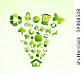 eco icon house   Shutterstock .eps vector #59308528