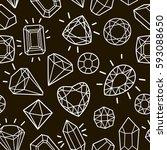 cute fashion seamless pattern...   Shutterstock .eps vector #593088650