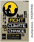 fight climate change | Shutterstock .eps vector #593095940