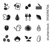 seed icons set. black on a... | Shutterstock .eps vector #593098706