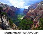 overlook from top of angels... | Shutterstock . vector #593099984