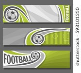 vector horizontal banners for... | Shutterstock .eps vector #593101250