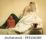 sickness  seasonal virus...   Shutterstock . vector #593106380