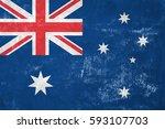 australia   australian flag on... | Shutterstock . vector #593107703