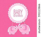 baby shower | Shutterstock .eps vector #593115866