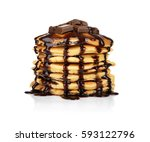 Delicious Pancakes On White...