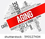 aging word cloud collage ...   Shutterstock .eps vector #593127434