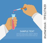 laboratory research or testing... | Shutterstock .eps vector #593127620