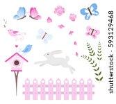 Collection Vector Flowers  Bir...