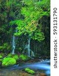 xia yuan falls subsoil water | Shutterstock . vector #593131790
