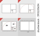 golden section options | Shutterstock .eps vector #593135654