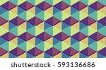 Geometric Pattern In Pastel...