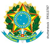 brazil  coat of arms  seal or... | Shutterstock . vector #59313787