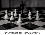 game of chess | Shutterstock . vector #593139548