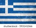 greece   greek flag on old... | Shutterstock . vector #593141066